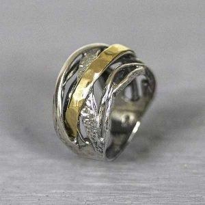 20064-Zilveren-ring-met-9-karaat-goud-stoer-groot-model