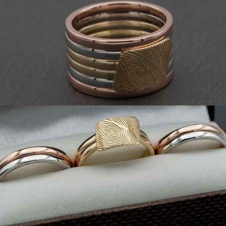 Ring-met-3-kleuren-goud-en-vingerafdruk-ringen-zitten-los-en-kunnen-wisselen