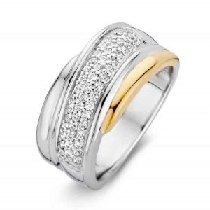 Excellent-Jewelry-Ring-goud-met-zilver-en-zirkonia