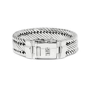 Brede-schakel-armband-zilver-735