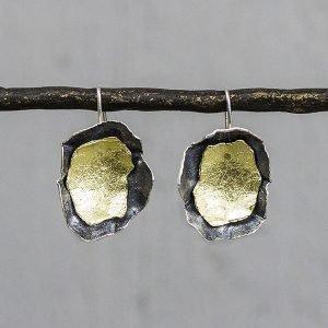 Oorhangers-zilver-en-zilver-verguld-grillige-vorm-20031