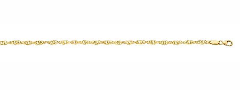 Singapore-armband-goud-massief-fjory-zilveren-kern