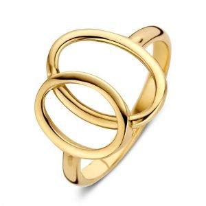 ring-geelgoud-RE106989 twee open ovale cirkels