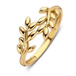 ring-geelgoud-met-blaadjes-RM106870