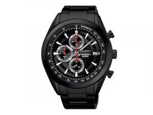 Seiko herenhorloge zwarte band SSB179p1