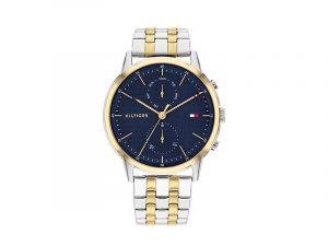 TH1710432-Tommy-Hilfiger-herenhorloge-blauwe-wijzerplaat-band-goud-en-zilverkleur