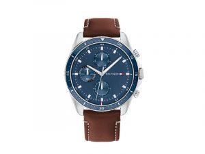 TH1791837-Tommy-Hilfiger-herenhorloge-blauwe-wijzerplaat-bruin-leren-horlogeband